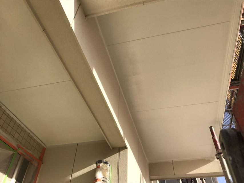 多治見市脇之島町玄関天井塗り替え