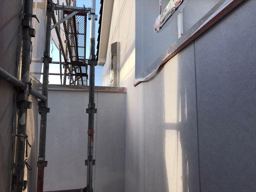 多治見市脇之島町外壁フィーラー塗り