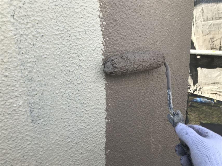 土岐下石林外壁上塗り