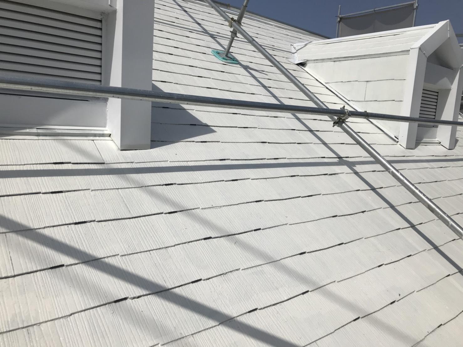 可児市スレート屋根タスペーサー使用