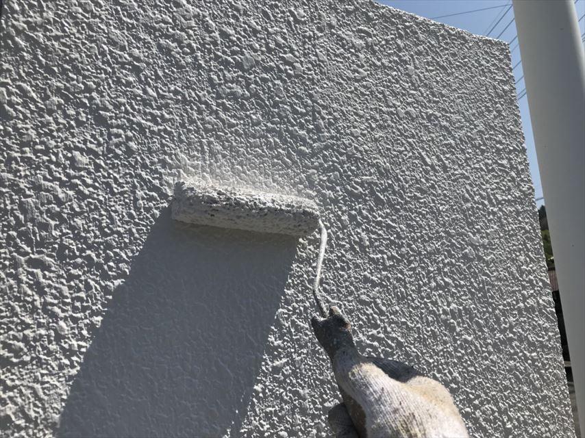 多治見市ブロック塀上塗り