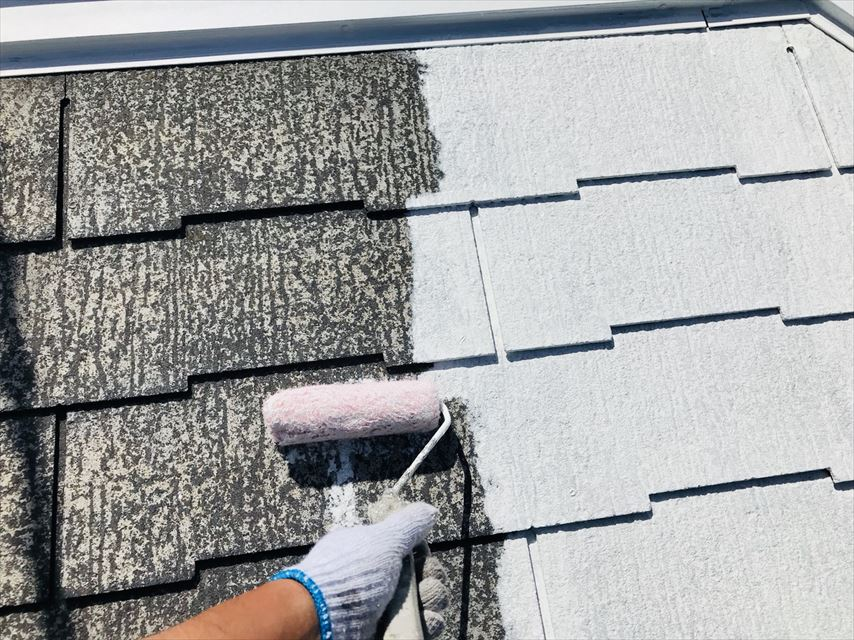 土岐市スレート屋根遮熱塗料