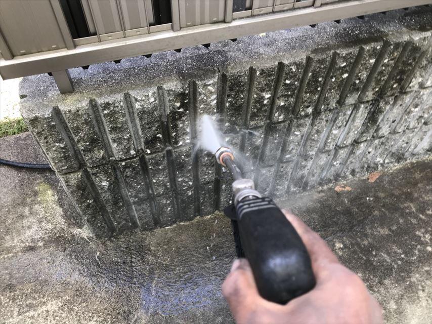 多治見市塀バイオ洗浄