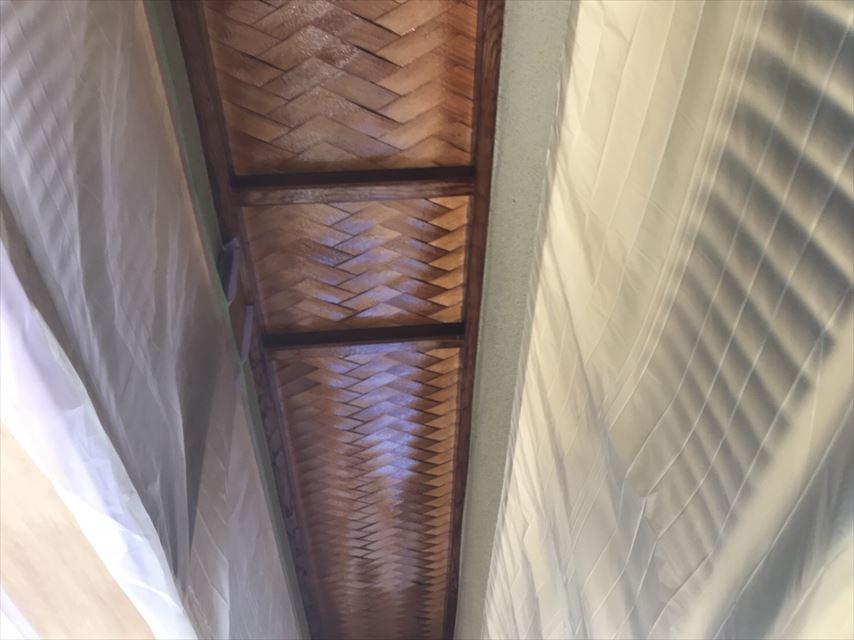 多治見市玄関天井塗り替え