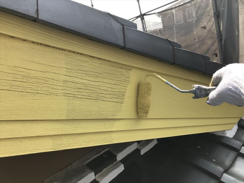 可児市破風板塗り替え