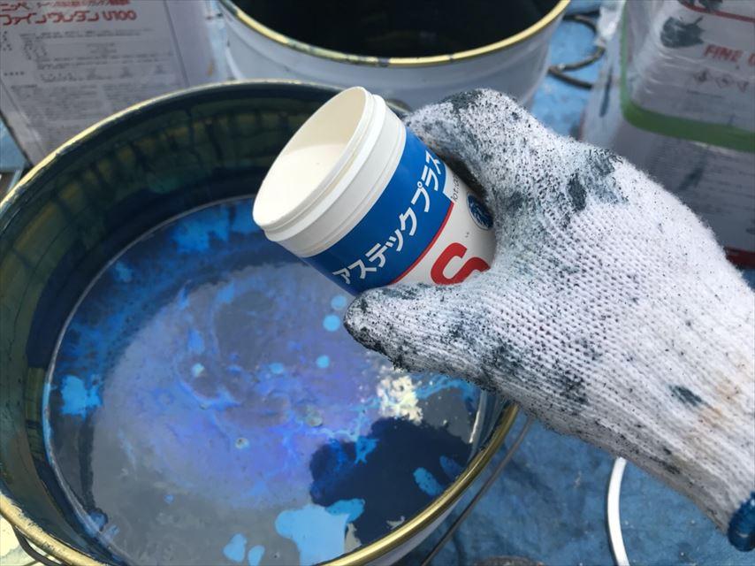 多治見市外壁塗り替え防カビ材