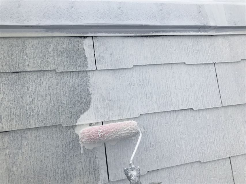 土岐市スレート屋根下塗り2回