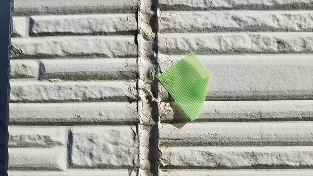 外壁のシーリングの痩せ