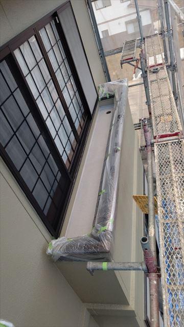 瑞浪市陶町でベランダ防水工事保護防水材塗布