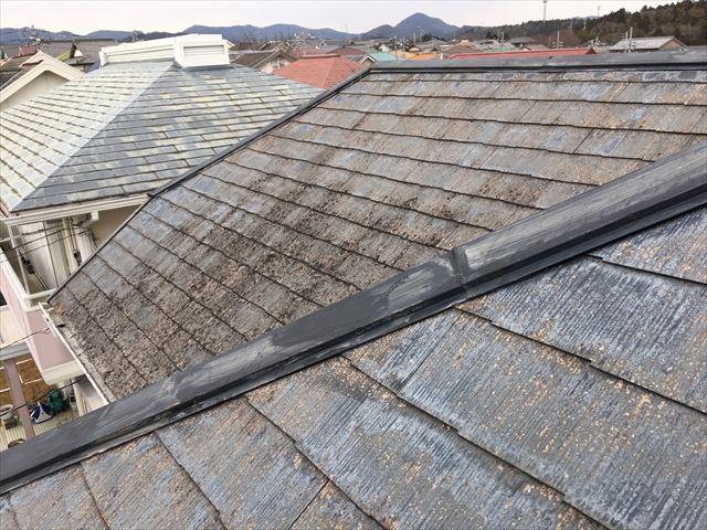 棟板金の塗膜の劣化