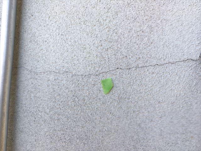 多治見市、外壁のひび割れ