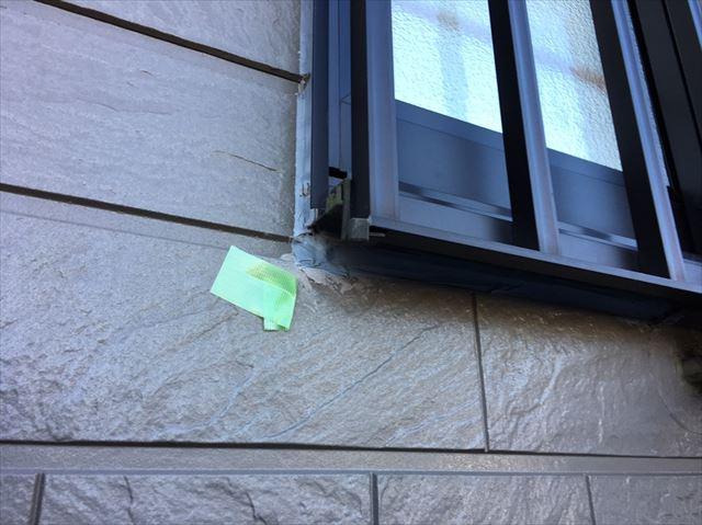 窓まわりのコーキング劣化