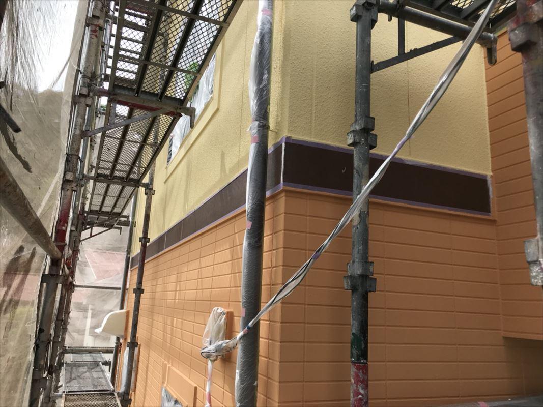 土岐 瑞浪 ツートン塗装 外壁2色塗り ガイナ断熱塗装