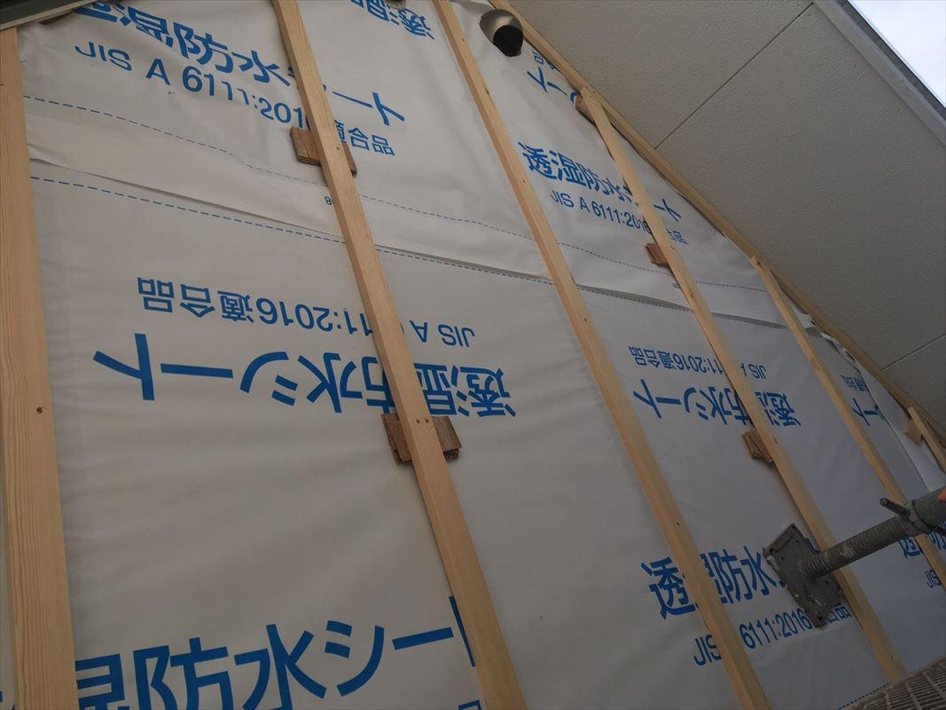 春日井市 外壁の張り替え 金属サイディング張り