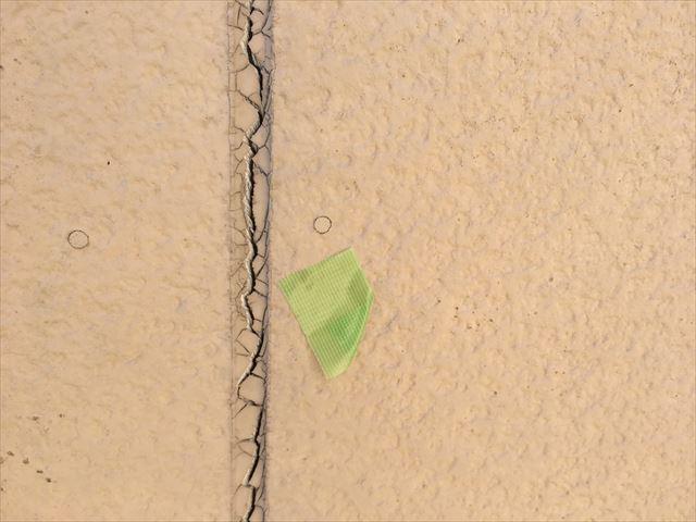 外壁の目地シーリングの劣化