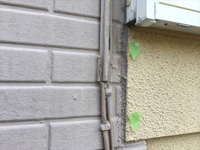 外壁面の取り合いの隙間