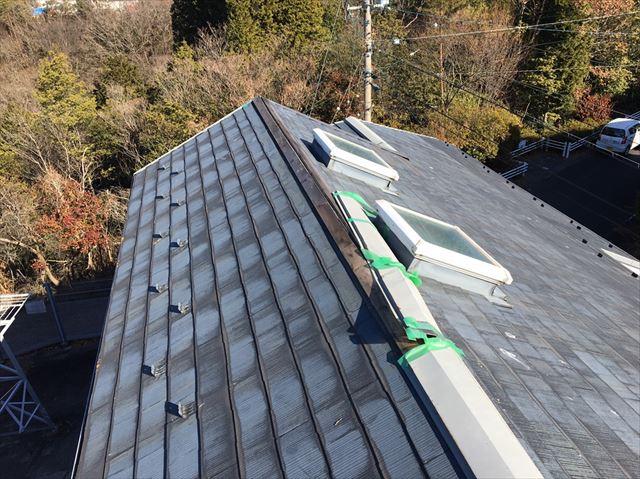 中津川市、屋根の棟板金剥がれ