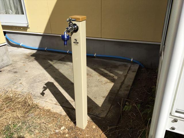 施工後の散水栓です