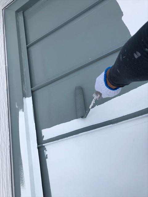 瑞浪市で屋根外壁塗装 屋根中塗り