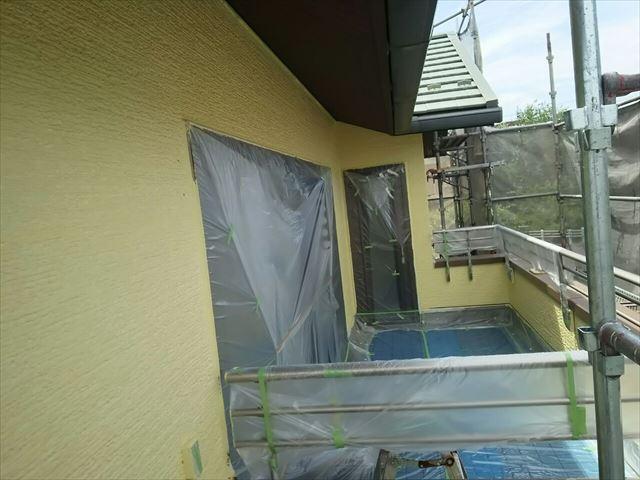 瑞浪市外壁中塗り完了