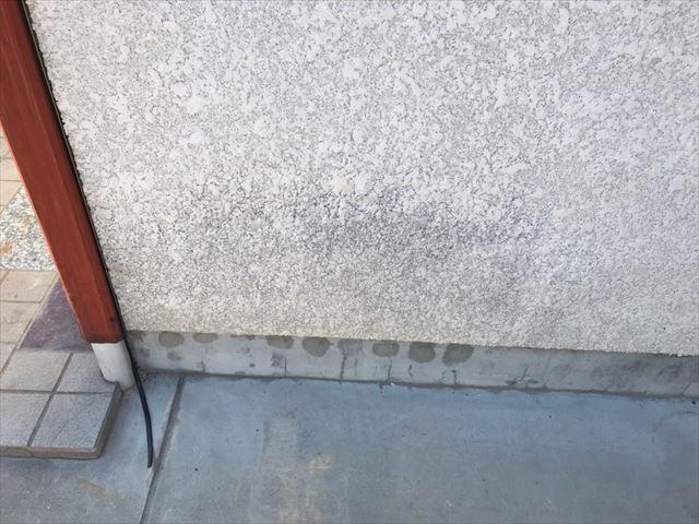 外壁面にカビ発生
