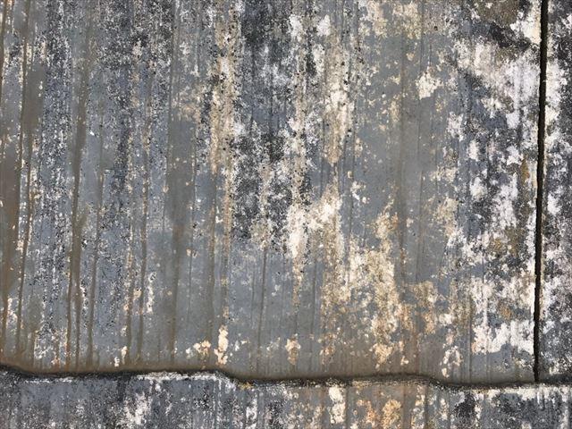 スレート屋根、塗膜の劣化