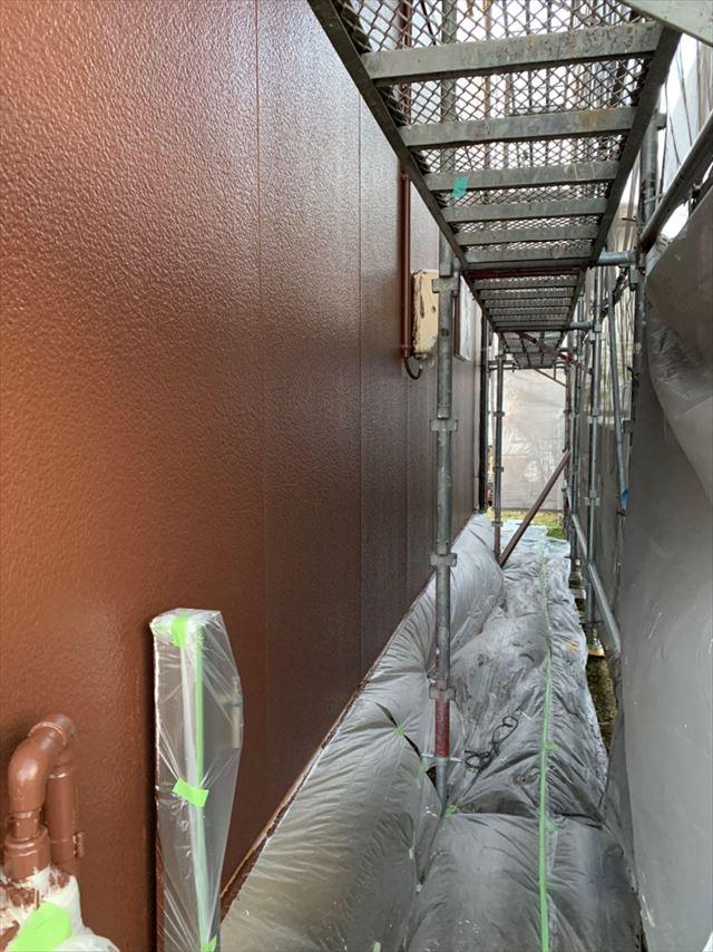 多治見市、中塗り外壁塗装