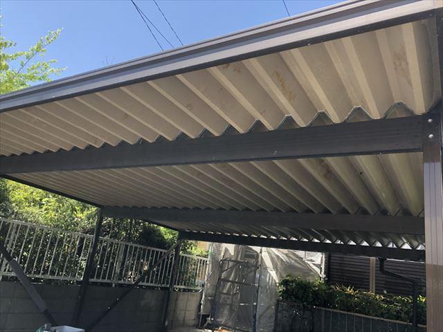 中津川市折半屋根の洗浄