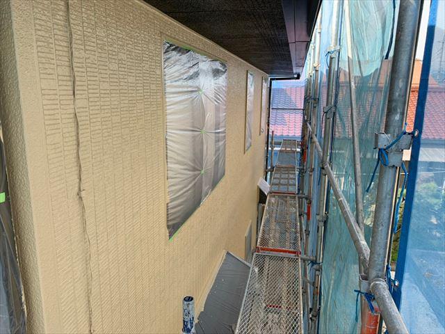 屋根外壁塗装 外壁塗装上塗り完了