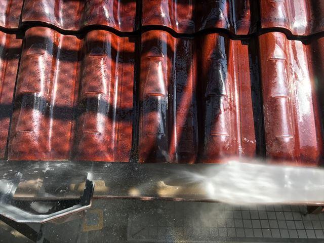 瑞浪市で外壁のバイオ洗浄です