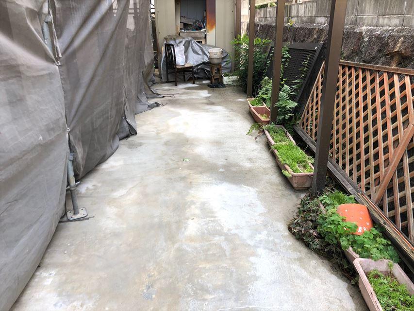 コンクリートの洗浄です