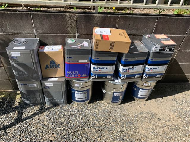瑞浪市で外壁塗装塗料缶