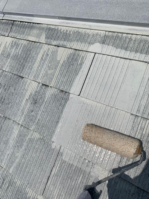 多治見市脇之島町屋根下塗り2回