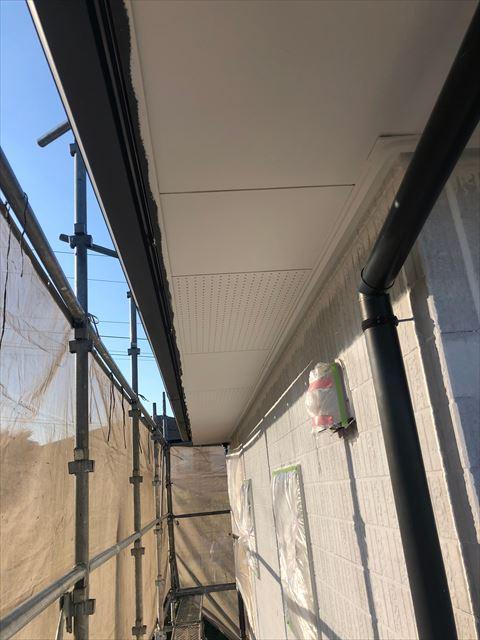 恵那市で外壁塗装軒天塗装