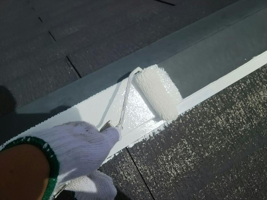 多治見 屋根塗装 板金部の錆止め 鉄部の塗装