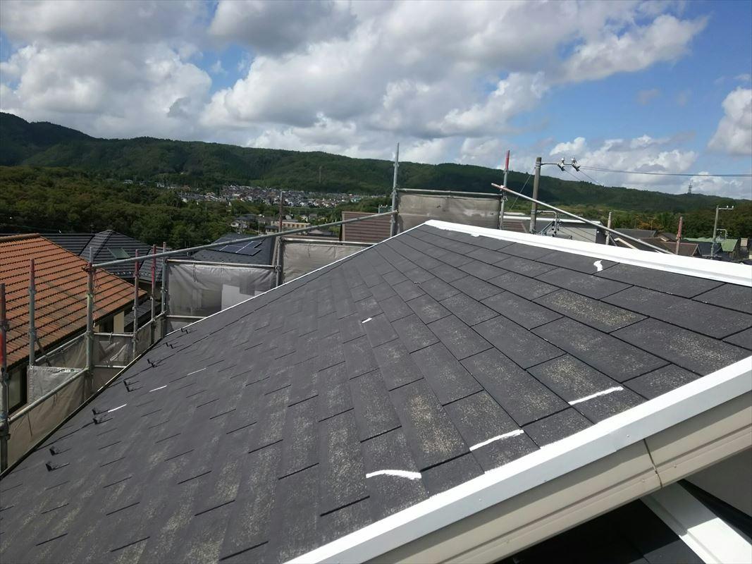 多治見 屋根の塗装 カラーベスト塗装 コロニアル塗装 棟の塗装