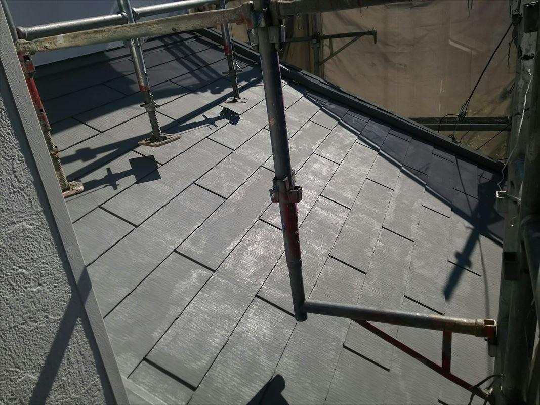 多治見で一番ガイナを塗っている 下の屋根も塗装 断熱ガイナ