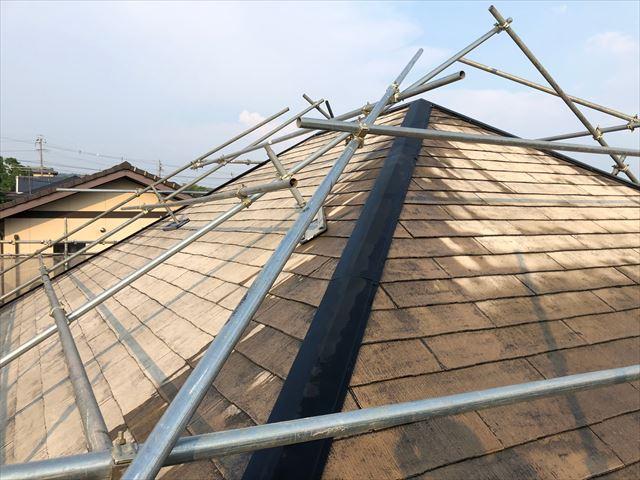 スレート屋根の洗浄後です