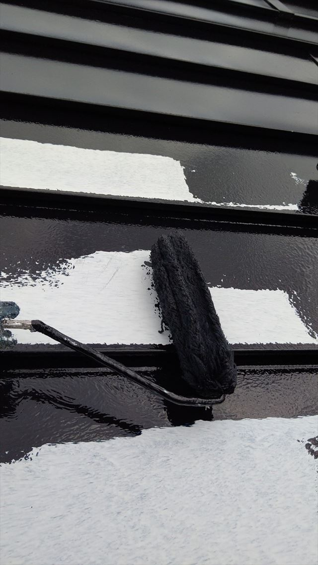 瑞浪市で屋根外壁塗装、屋根下塗り