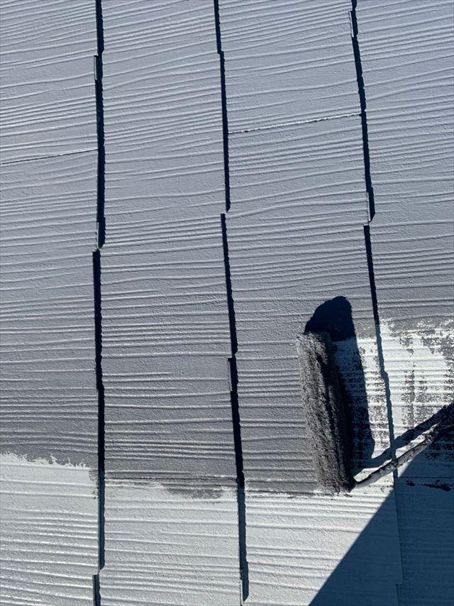 瑞浪市で屋根中塗り塗装