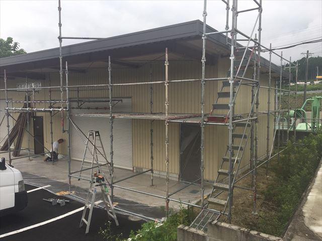 恵那市 恵那営業所 外壁塗り替え