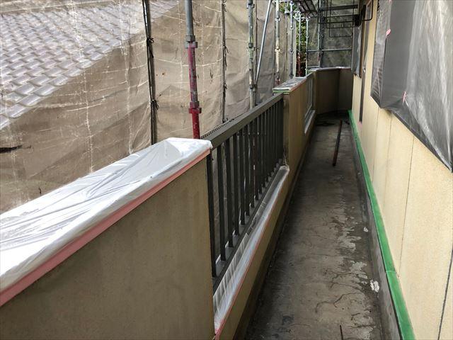 恵那市長島町で外壁塗装養生
