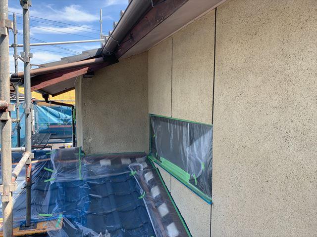 瑞浪市 外壁塗装下塗り1回目