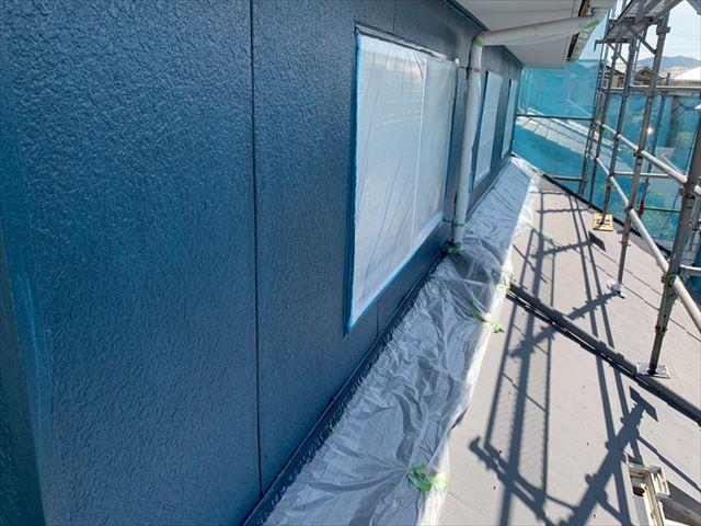 恵那市で外壁中塗り