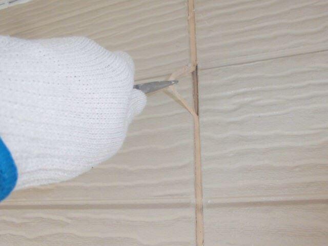 恵那市大井町で外壁塗装、目地コーキング撤去