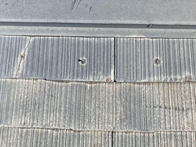 屋根の塗膜の色褪せ