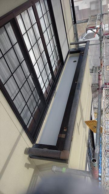 瑞浪市陶町でベランダ防水工事保護防水材塗布2回目