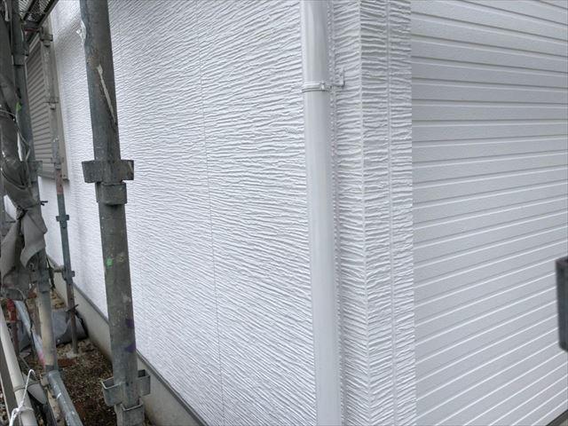 瑞浪市で屋根外壁塗装 外壁上塗り完成