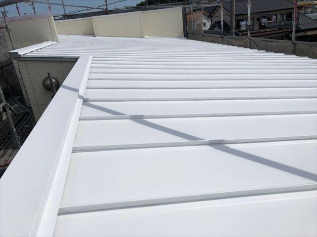 瑞浪市で屋根外壁塗装 屋根下塗り完成