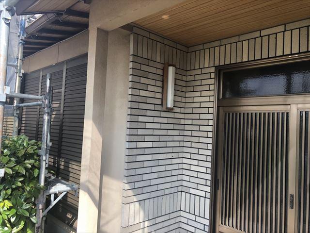 中津川市、玄関前の洗浄
